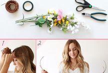 Couronne de fleurs de cheveux