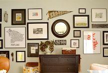 Création mur de tableaux
