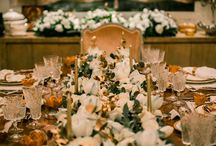 Christmas decoration / Elegant White and Gold Christmas table decoration ideas