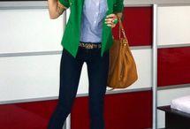 Casaco e jaqueta verde