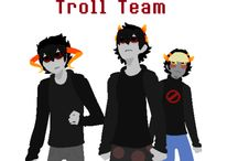 Homestuck: Troll Team stuff