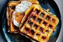 Eat Well: Breakfast. / mostly waffles