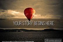 Writing Ideas: Story Starters / Ways to start stories.
