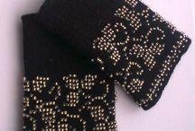 Beaded Wristwarmers- chauffe poigntes à perles