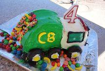 Garbage Truck Birthday Cakes
