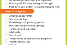 Tips for planning events, exhibitions and tradeshows / event planning tips   exhibition planning tips   how to plan events   event marketing   event budgeting   event ROI   exhibition marketing   exhibition ROI   trade show planning
