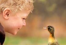 children and friends