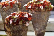 Blomster med bark