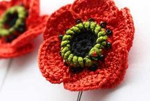 Poppies - crochet and Knit