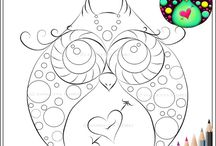 disegni da colorare, tutorial disegno / Imparare a colorare e disegnare