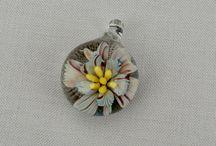 Lampwork Flower Pendant