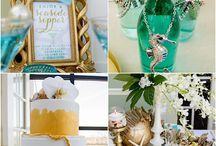 Shower by the Sea by La Petite Fleur / Sand to Sea, Me to We - Beach-Themed Bridal Shower http://www.lapetiteevents.com