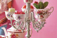 chandelier en tasses