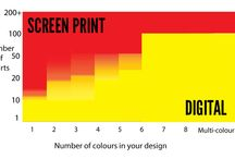 Screen printing v Digital printing / The difference between screen printing and digital printing onto t-shirts / by Shirtworks