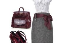 bordó és lila öltözékek őszre és télre