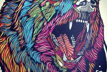 Eläinmaalaukset ja -piirrokset