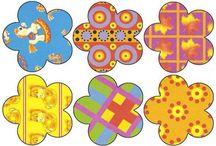 Цвет,фигуры / Визуальное восприятие, соотношение цвета и формы