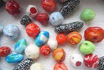 Paper mache beads / Paper mache beads