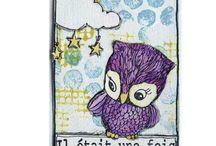 A T C artist trading card / l'atc est une petite carte qui s'échange, se collectionne, sa dimension est de 64 x 89 mm