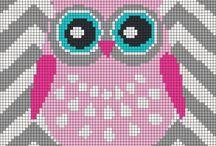 Cross stitch baykuş