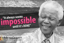 Nelson Mandela  / #MICROGRAAM'S LONG WALK FOR EMPOWERING RURAL INDIA CONTINUES Nelson Mandela's Long Walk to Freedom is now a global cause. Taking cue from his life, MicroGraam is on path to empower rural India with microloans and equity. As our tribute to this great leader who throughout his life has championed the cause of human rights and equality, MicroGraam will share with our friends the works and times of great Mandela this week. Stay Tuned!