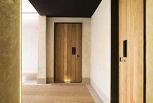 Hotel entry door