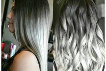 sølvgrå hår