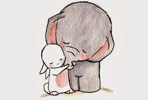 Cute drawings / Mainly cute elephant drawings