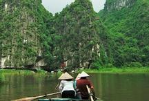 Tam Coc / La bahía de Halong entre arrozales: Tam Coc, en la provincia de Ninh Binh