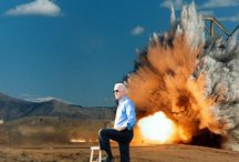 B.A. Biden / A pose that demanded explosions.