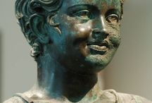 RÓMAI birodalom, / építészeti emlékek, portrék, szobrok, bronz leletek,