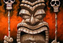 Tikis, Masks, and Wood Carvings / by Abigail Millard