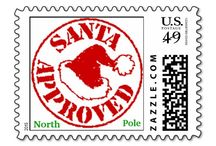 Печати и марки (дед мороз) на подарки к новому году