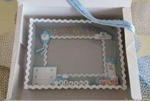 Quadretti nascita fimo / Quadretti nascita in fimo e legno personalizzati con copertura in vetro