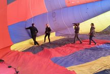 reportage télé France 3 / Tournage d'un vol en montgolfière sur la région de Fontainebleau télé France 3 Météo à la Carte et France Montgolfières