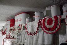 Red & white kitchen