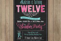 Slumber Birthday party