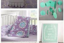 Nursery aqua lilac