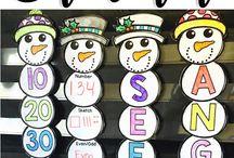 Teaching December activities