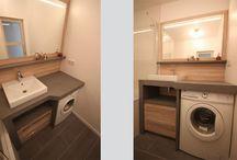 Meubles de Salle de Bains avec Lave linge / Découvrez des solutions innovantes pour intégrer un lave linge dans une salle de bain, de manière esthétique et discrète.