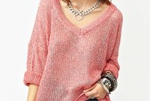 Natural sweater and blouses
