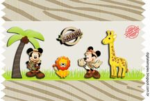 Kit michey e minnie safari