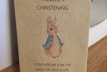 Alfie's Christening ideas