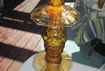 Garden art / Glass flowers