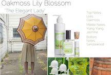 "Oakmoss Lily Blossom - Tulip Perfume /  ""The Elegant Lady"" top notes: lilies, oakmoss  middle notes: ylang ylang, jasmine  bottom notes:  sandalwood"