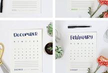 DIY: Printable 2018 Calendars / Printable Calendars for 2018. Find your favorite and download your monthly calendar. Most are free.