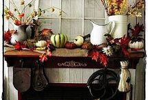 An Autumn Affair / Golden tones and fall hues welcome the crisp styles of fall into your home.