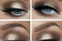 Blue eyes make up
