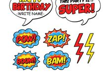 3rd bday party / Super Hero Bday Party