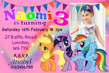 Personalised My Little Pony Birthday Party Invitations / Personalised My Little Pony Birthday Party Invitations